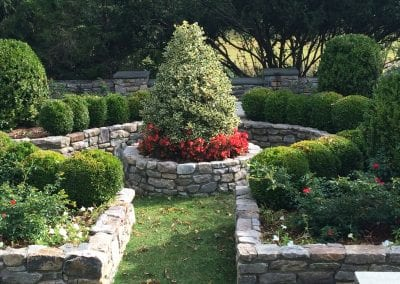Rock Walls and plantings